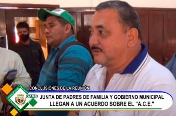 REUNIÓN CON LA DIRECTIVA DE LA JUNTA DE DISTRITO DE PADRES DE FAMILIA