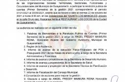 RENDICION PUBLICA CUENTA
